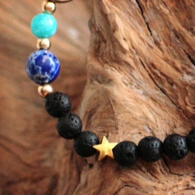 Lavasten armbånd med solsystemet