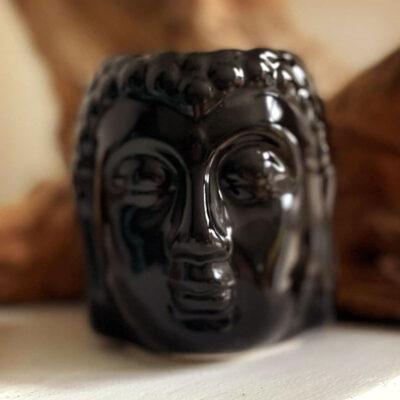 Duftlampe Buddha figur sort